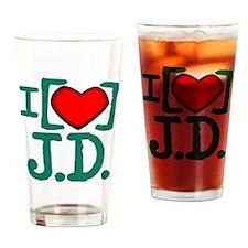 I Heart J.D. Pint Glass