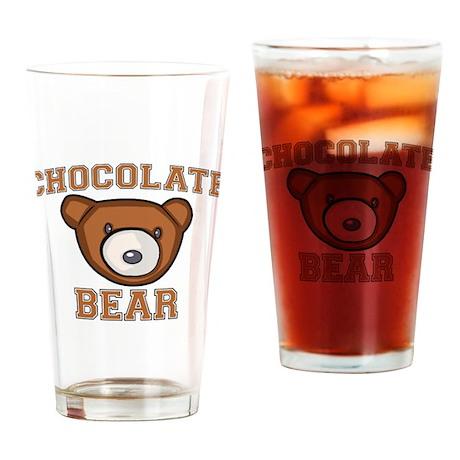 Chocolate Bear Pint Glass