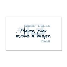 Gibbs' Rules #13 Car Magnet 12 x 20