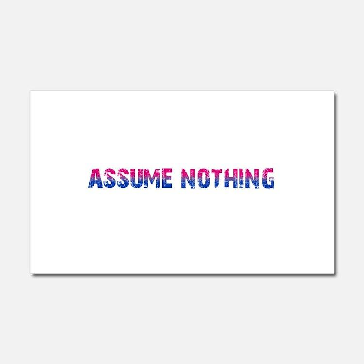 Assume Nothing Car Magnet 12 x 20