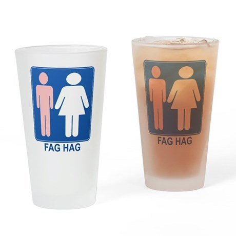 FAG HAG Sign Pint Glass