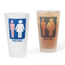 FAG HAG Sign Pint Glass