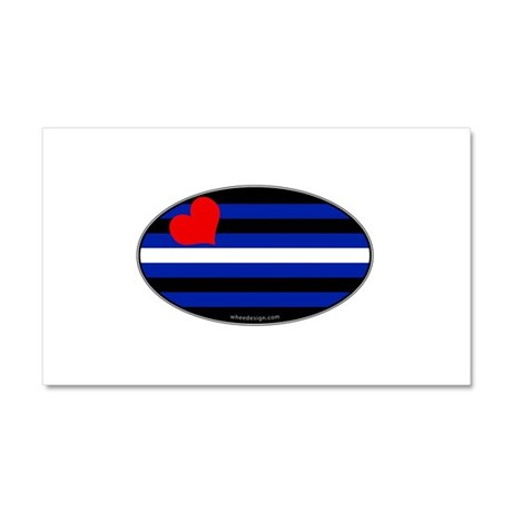 Oval Leather Pride Flag Car Magnet 12 x 20