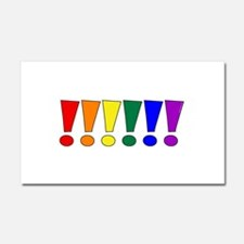 Rainbow Exclamation Points Car Magnet 12 x 20