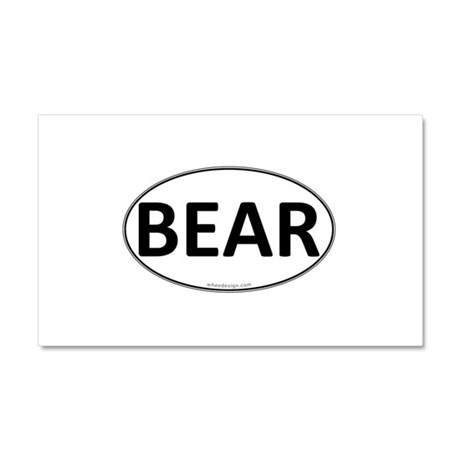 BEAR Euro Oval Car Magnet 12 x 20