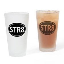 STR8 Black Euro Oval Pint Glass