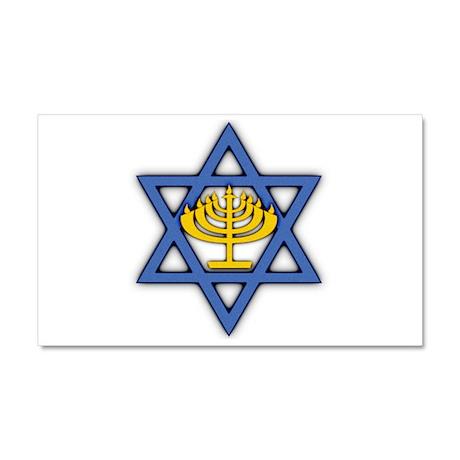 Star of David with Menorah Car Magnet 12 x 20