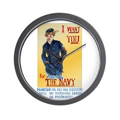 U.S.Navy Woman 2 Wall Clock