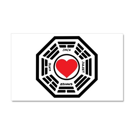LOST Love Square Car Magnet 12 x 20