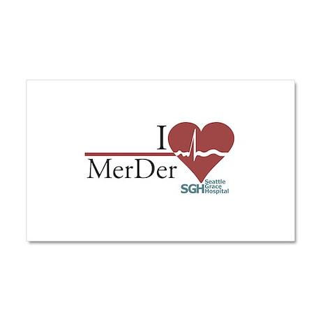 I Heart MerDer - Grey's Anato Car Magnet 12 x 20