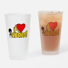 I Heart Verbs - Schoolhouse R Pint Glass