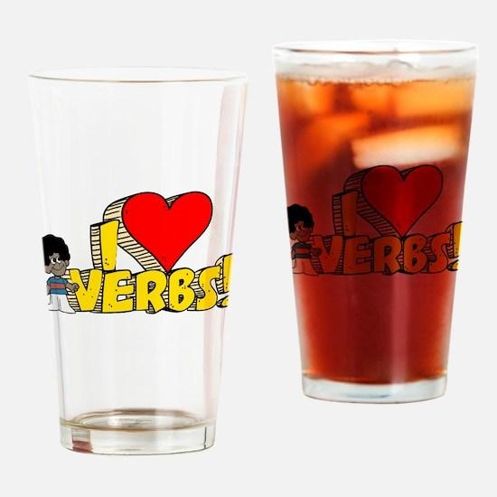 I Heart Verbs - Schoolhouse R Pint Glass