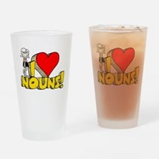 I Heart Nouns Pint Glass
