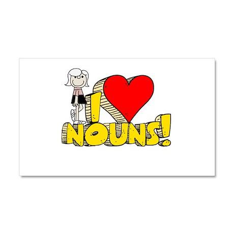 I Heart Nouns Car Magnet 12 x 20