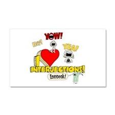 I Heart Interjections Car Magnet 12 x 20