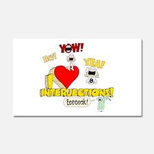 I Heart Interjections Car Magnet 12 x 20
