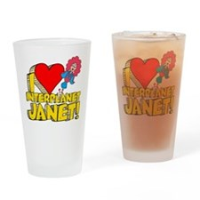 I Heart Interplanet Janet! Pint Glass