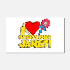I Heart Interplanet Janet! Car Magnet 12 x 20