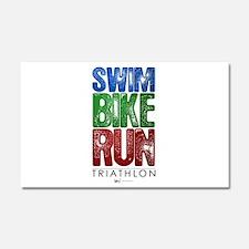 Swim, Bike, Run - Triathlon Car Magnet 12 x 20
