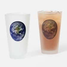 Western Earth from Space Pint Glass