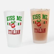 Kiss Me I'm Italian Pint Glass