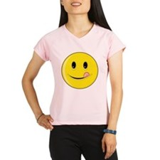 Smiley Face - Licking LIps Women's Double Dry Shor