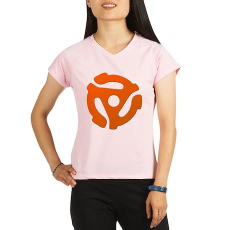 Orange 45 RPM Adapter Women's Double Dry Short Sle