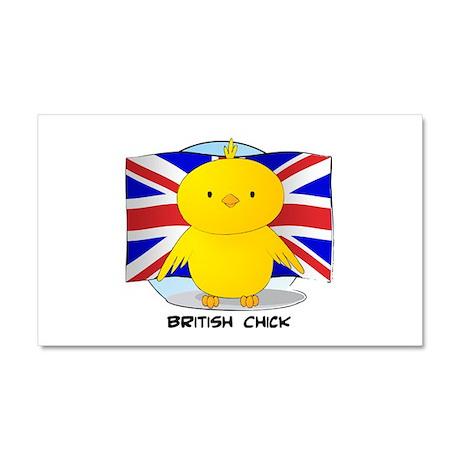 British Chick Car Magnet 12 x 20