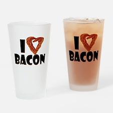 I Heart Bacon Pint Glass