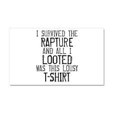 I Survived the Rapture All Car Magnet 12 x 20