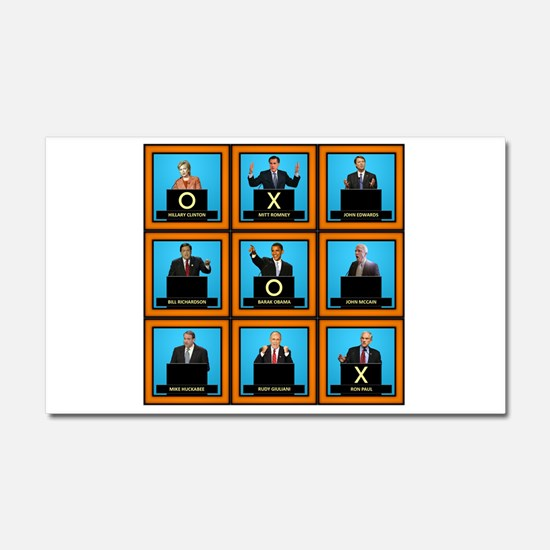 Presidential Squares Car Magnet 12 x 20
