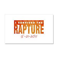 I Survived the Rapture 5-21-2 Car Magnet 12 x 20