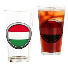 Round Flag - Hungary Pint Glass
