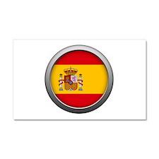Round Flag - Spain Car Magnet 12 x 20