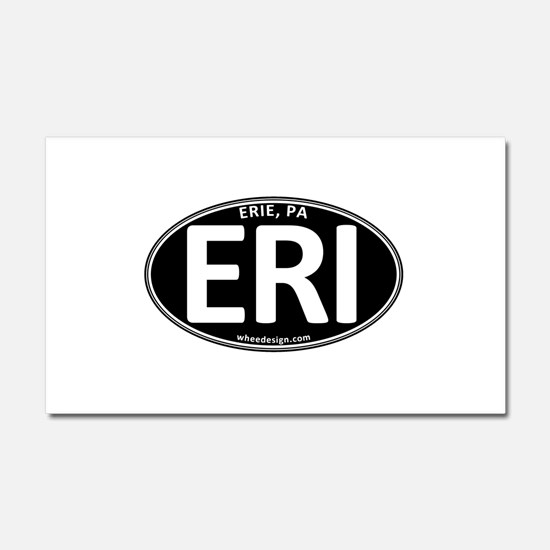 Black Oval ERI Car Magnet 12 x 20