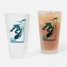 Eat Sleep Snowboard Pint Glass