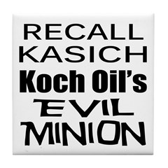 Recall Governor Kasich Tile Coaster