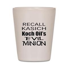 Recall Governor Kasich Shot Glass