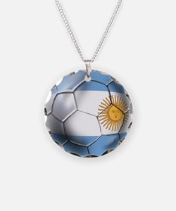 Argentina Football Necklace