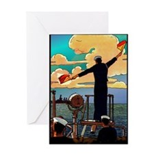 U.S. Navy Signals Greeting Card
