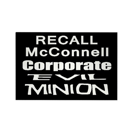 Recall Mitch McConnell Rectangle Magnet