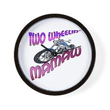 TWO WHEELIN' MAMAW Wall Clock
