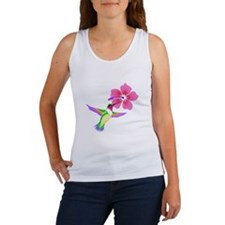 Pink Purple Hummingbird Women's Tank Top