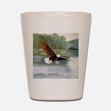 American Bald Eagle Flight Shot Glass