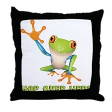 Hop Over Here Throw Pillow