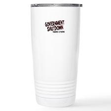 Government Shutdown Harms Cit Travel Mug