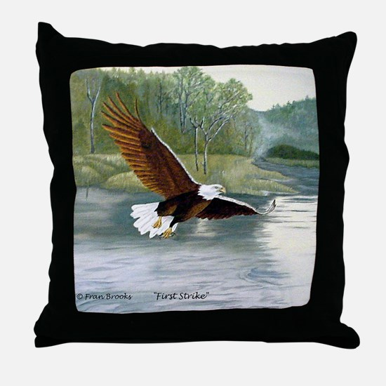 American Bald Eagle Flight Throw Pillow
