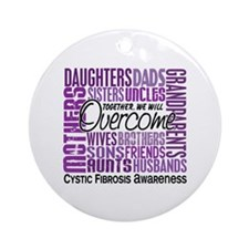 Family Square Cystic Fibrosis Ornament (Round)