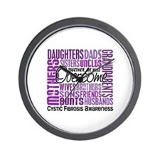 Family Square Cystic Fibrosis Wall Clock