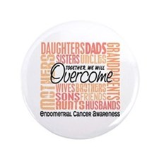 "Family Square Endometrial Cancer 3.5"" Button"